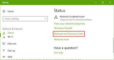 مشکل کار نکردن شبکه LAN